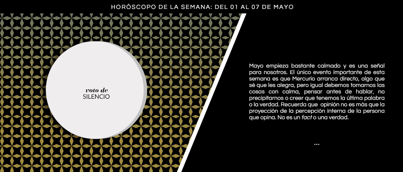 Horoscopo De La Semana Del  De Mayo